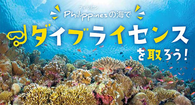 フィリピンの海でダイブライセンスを取ろう!